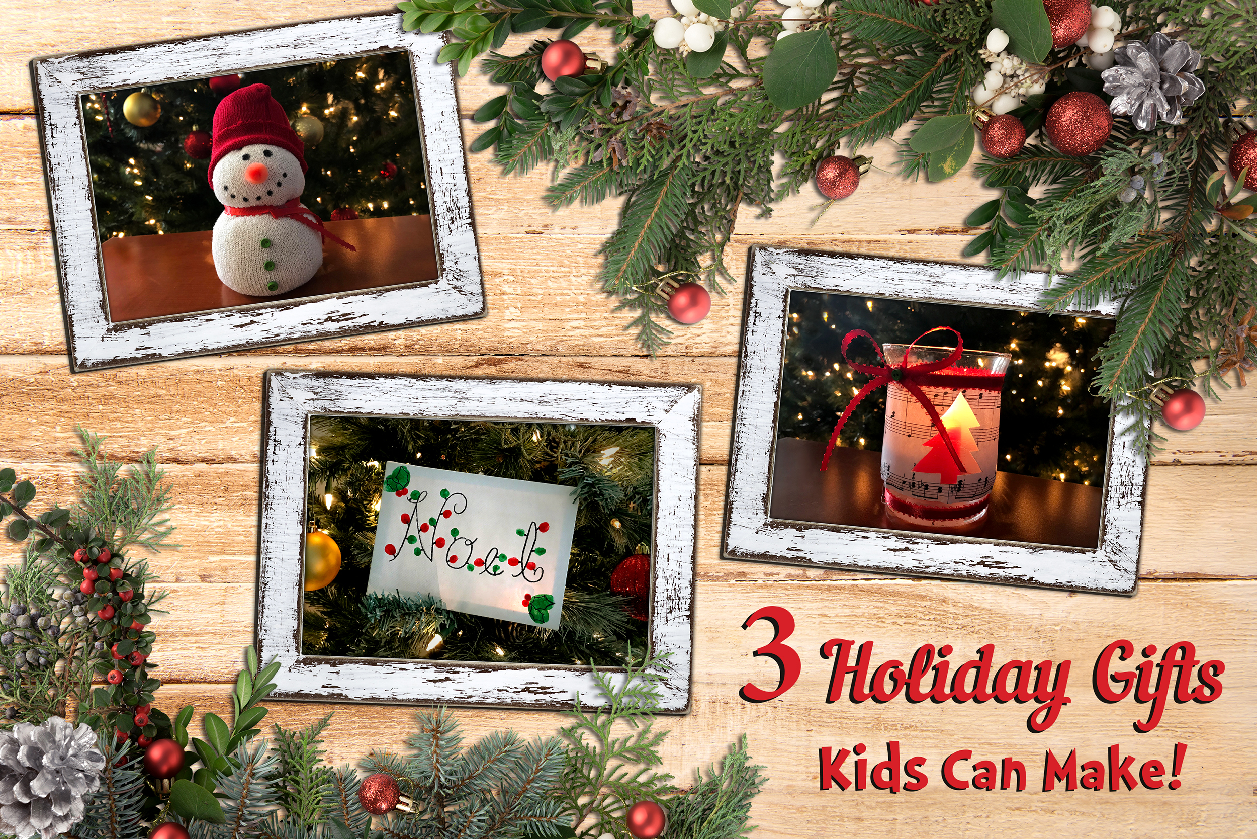 Homemade Christmas Gifts For Kids.Three Christmas Gifts Kids Can Make